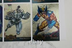 1995 Fleer Marvel Metal Gold Foil Blaster Complete Insert Chase Set 18 Cards