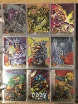 1995 Fleer Ultra Marvel X-Men Chromium Chrome COMPLETE 100 CARD BASE SET NM/M