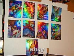 1995 Fleer Ultra X-men Chromium Lethal Weapons Holofoil Insert 9 Card Set Marvel