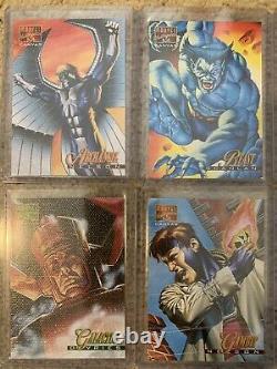 1995 Marvel Masterpieces COMPLETE CANVAS INSERT CARD SET, #1-22 NM/M! Fleer