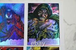 1995 Marvel Masterpieces Complete Holoflash Complete 8 Card Set Venom Carnage
