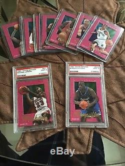 1995 NBA HOOPS SKYVIEW 10 CARD SET MICHAEL JORDAN Psa 9 Mint Shaquille Psa 9