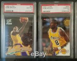 1996/1997 Kobe Bryant #1 Set Registry Rookie Rc Chrome E-x2000 Finest 96 Psa 10