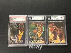 1996-97 Flair Showcase Row 0 1 2 Set Kobe Bryant ROOKIE RC #31 BGS PSA 9 MINT