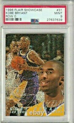 1996 97 Flair Showcase Row 0 # 31. Kobe Bryant (R) Freshly Graded PSA 9