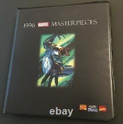 1996 Marvel Masterpieces Base Set of 100 Cards with Custom Binder & Masterprint