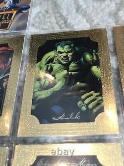 1996 Marvel Masterpieces COMPLETE SET Double Impact Gold Gallery BONUS