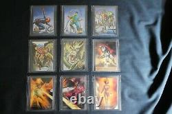 1996 Marvel Masterpieces Complete Base Set of 100 Cards