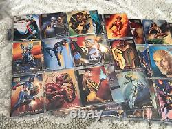 1996 Marvel Masterpieces Complete Base Set of 100 Cards NM/M