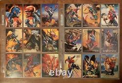 1996 Marvel Masterpieces Complete Set withALL 6 Gold Gallery & ALL 6 Double Impact