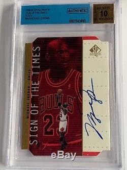 1998-99 SP Authentic Michael Jordan/Allen Iverson Sign of The time Auto SET
