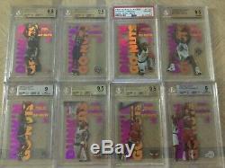 1998-99 Skybox Ex Century Dunk'n Go-Nuts SET KOBE JORDAN CARTER DUNCAN BGS 9.5