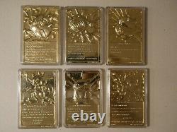 1999 Burger King Pokemon 23K Gold-Plated Trading Card 6 Full Set LTD Edition