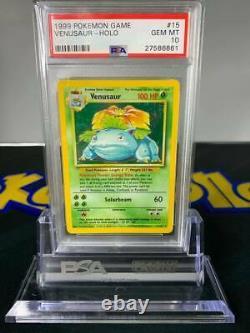 1999 Pokemon Base Set Rare PSA 10 Venusaur Holo #15 GEM MINT Trading Card Game