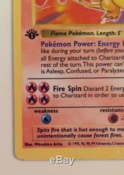 1st Edition SHADOWLESS CHARIZARD Pokemon Card 4/102 Base Set