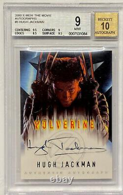 2000 X-MEN WOLVERINE Hugh Jackman AUTOGRAPH BGS 9 Mint 10 PSA Regrade