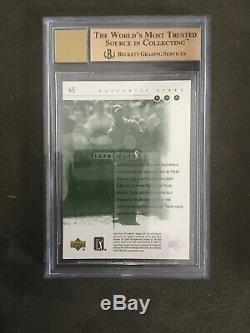 2001 SP Authentic Golf Set With Tiger Woods RC 9.5/9 6 Rookie Autos BGS Graded