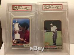2001 Tiger Woods SI For Kids Grand Slam set Highest PSA Graded Only 6 Sets Exist