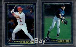 2001 Topps Chrome Traded Complete Set 1-266 Albert Pujols Ichiro Rookies Rc