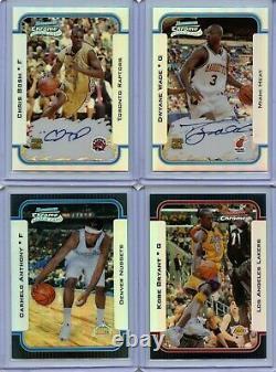 2003-04 Bowman Chrome Refractor Basketball set (Complete) Lebron James /300