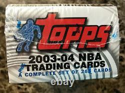 2003-04 TOPPS BASKETBALL SET ORIGINAL FACTORY SEAL UNOPENED INC LeBRON JAMES RC