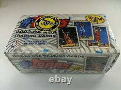 2003-04 Topps Basketball Mint Factory Sealed Box Set 1-265 w LEBRON JAMES RC 221