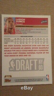 2003=04 Topps Lebron James RC Rookie #221 Gold Collection Set Issue MVP ICON