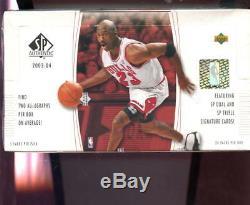 2003-04 Upper Deck SP Authentic Set NBA Basketball 03-04 Wax Pack Box 2004