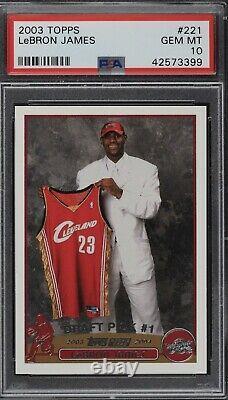 2003 Topps Basketball #221 Lebron James RC Rookie PSA 10 GEM MINT