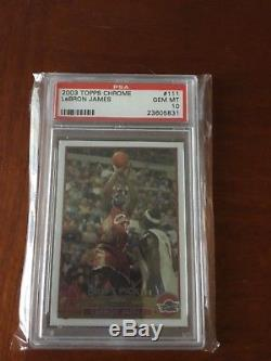 2003 Topps Chrome PSA 10 LeBron James rookie card Lakers set registry #111
