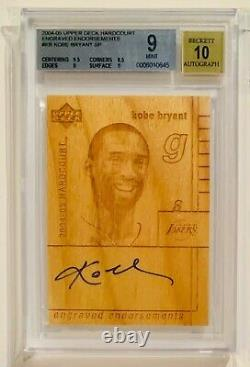 2004-05 Engraved Endorsements Michael Jordan, Lebron James, Kobe Bryant Auto 1/1