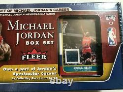 2007 Michael Jordan Box Set 1986 Fleer Memorabilia Card GAME USED Factory Sealed