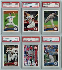 2011 Topps Update Complete Set 22 PSA 10 GEM MINT Cards Mike Trout +
