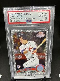 2011 Topps Update Diamond Anniversary Mike Trout Rookie PSA 10