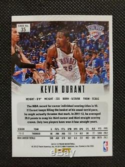 2012-13 Kevin Durant Panini Prizm Silver Refractor Sp Prizms Card #35 Iconic Set