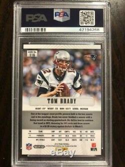 2012 Panini Prizm Silver Tom Brady PSA 8 GOAT First Year HOT Refractor Patriots