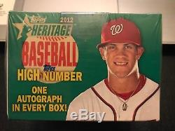 2012 Topps Heritage High Number UNOPENED AND FACTORY SEALED Bryce Harper RC