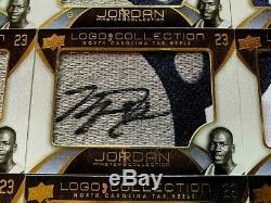2012 Ud Master Collection North Carolina Tar Heels Logo Set Auto Michael Jordan