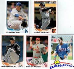 2013 Topps Baseball 666 Card Factory Set-2 Mike Trout+Jackie Robinson REFRACTOR