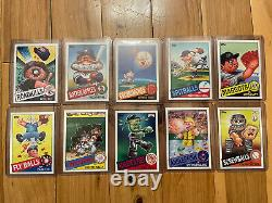 2015 Topps GARBAGE PAIL KIDS SERIES 1 COMPLETE ALL 10 GPK BASEBALL CHASE SET NEW