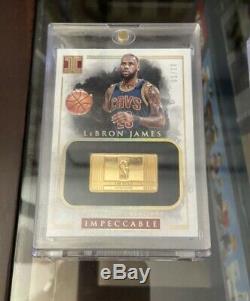 2016-17 Panini Impeccable 14k Gold 1/2 Troy Oz NBA Logo 10 Card Set Lebron James