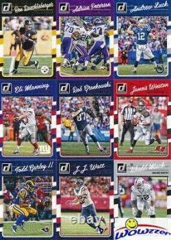 2016 Donruss Football 400 Card Factory Sealed Set-100 RC-Prescott, Elliott, Wentz