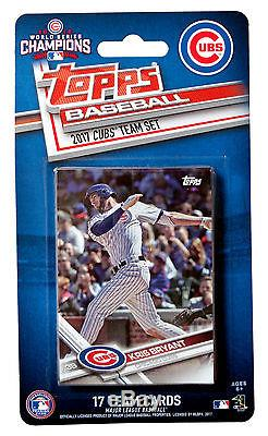2017 Topps Chicago Cubs Baseball 17-Card Team Set 2016 World Series Champoins
