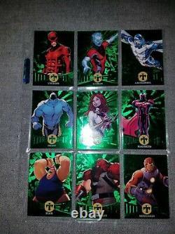 2018 Fleer Ultra X-Men /25 precious metal gems PMG green 49 card set marvel PSA