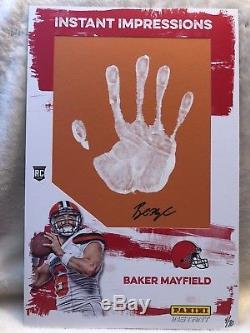 2018 Panini Instant /10 BAKER MAYFIELD Impressions RC Auto & Handprint Browns