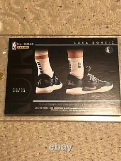 2018 Panini Noir Luka Doncic Sneaker Spotlight Rookie Auto #99 Nicest Set Ever