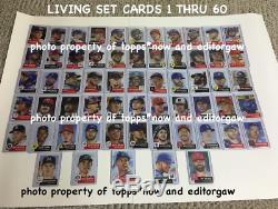2018 Topps Living Set Cards 1 Thru 60 Weeks One Thru Twenty! 10 Boxes Inc