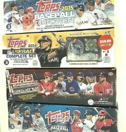 2018 Topps Retail, 2017 Hobby, 2016 Ichiro Relic, 2015 Retail Baseball Set Combo