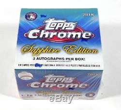 2018 Topps Sapphire Chrome baseball sealed set/box Acuna Ohtani Torres 3 auto