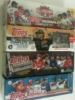 2019, 2017,2016 & 2015 Topps Baseball Complete Factory Set Combo